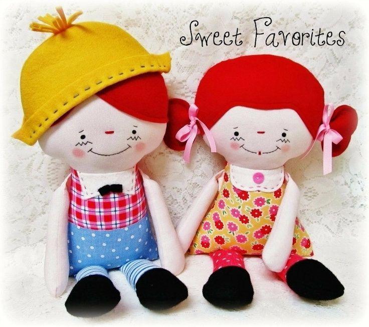 Muñeca niño o niña muñeca del patrón del patrón Softie suave ...