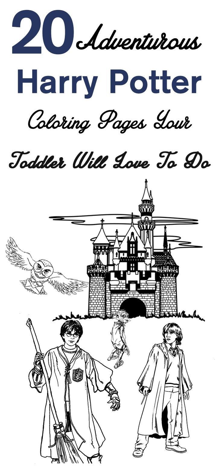 20 Adventurous Harry Potter Coloring Pages Your Toddler Will Love To Do