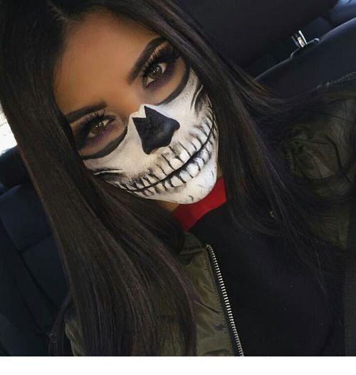 Maquillaje de Halloween con cara de calavera – Nuevas ideas