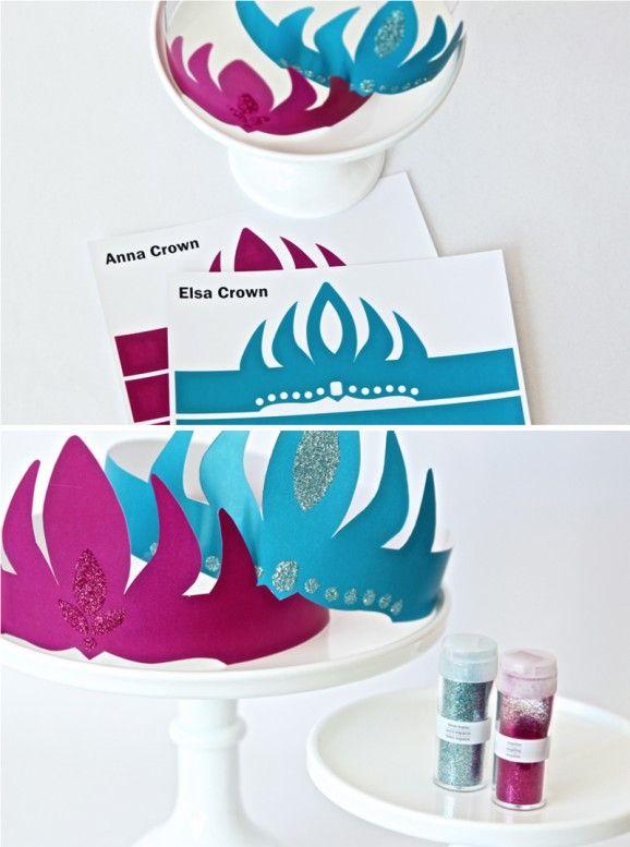 Free Printable Frozen Crown Templates Frozen Party Pinterest