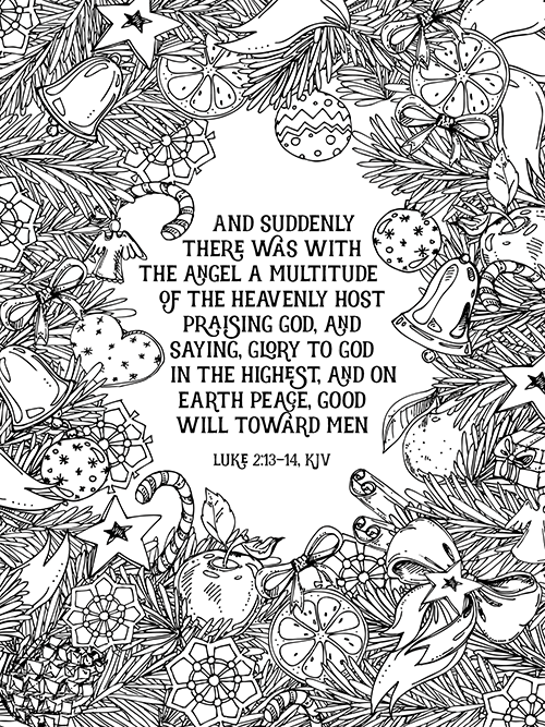 FREE PRINTABLE Christmas Coloring Sheets From All The Include A Bible Verse And Look So Pretty Framed