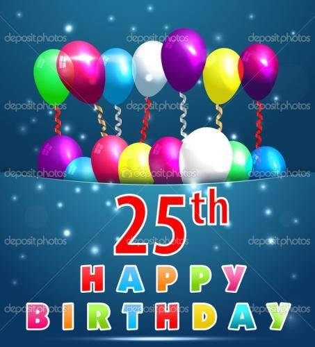 Depositphotos49572141 25 year happy birthday card with balloons 70 year happy birthday card with balloons and ribbons birthday vector buy this stock vector on shutterstock find other images bookmarktalkfo Gallery