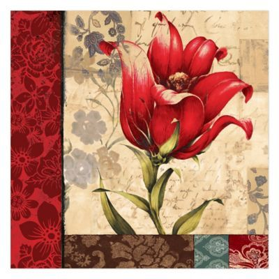 Contemporary Red Flower Wall Art Ideas - Wall Art Collections ...