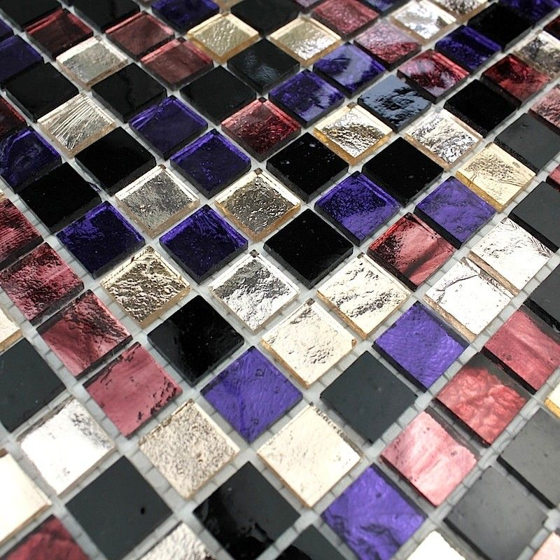 dalle mosa que verre cr dence cuisine gloss prune 10 90 surface m2 0 09 taille des carreaux. Black Bedroom Furniture Sets. Home Design Ideas