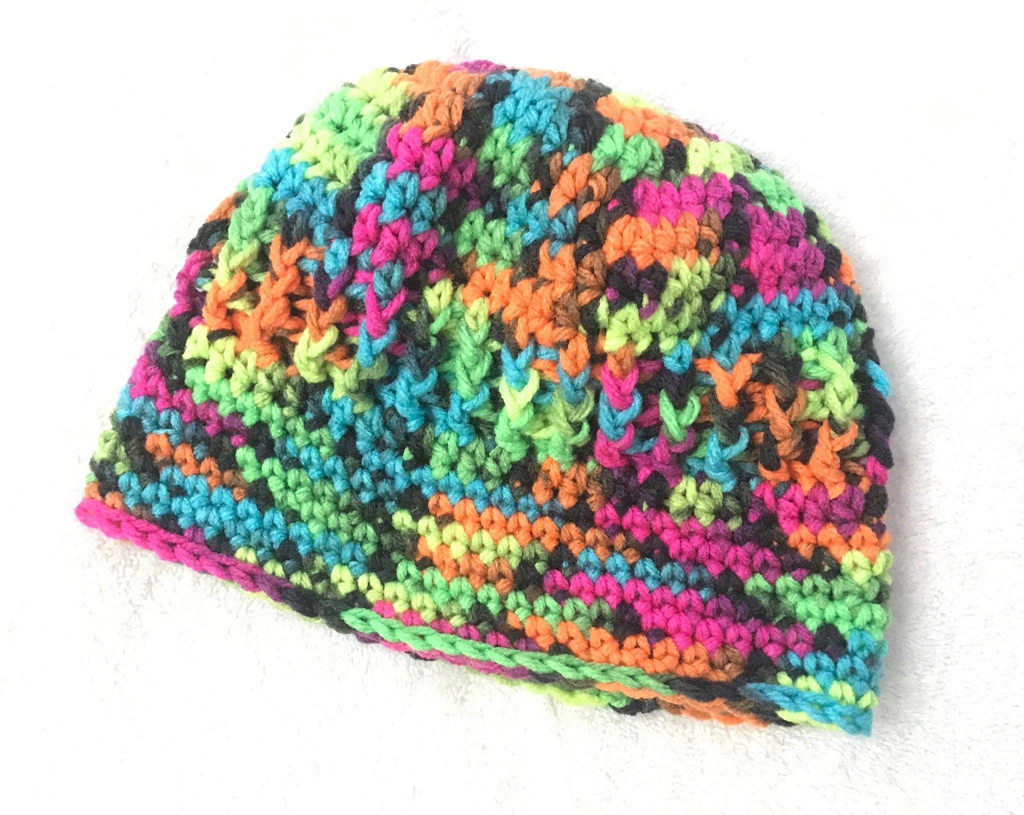 Baby J\'s Blacklight Hat - Free Crochet Pattern