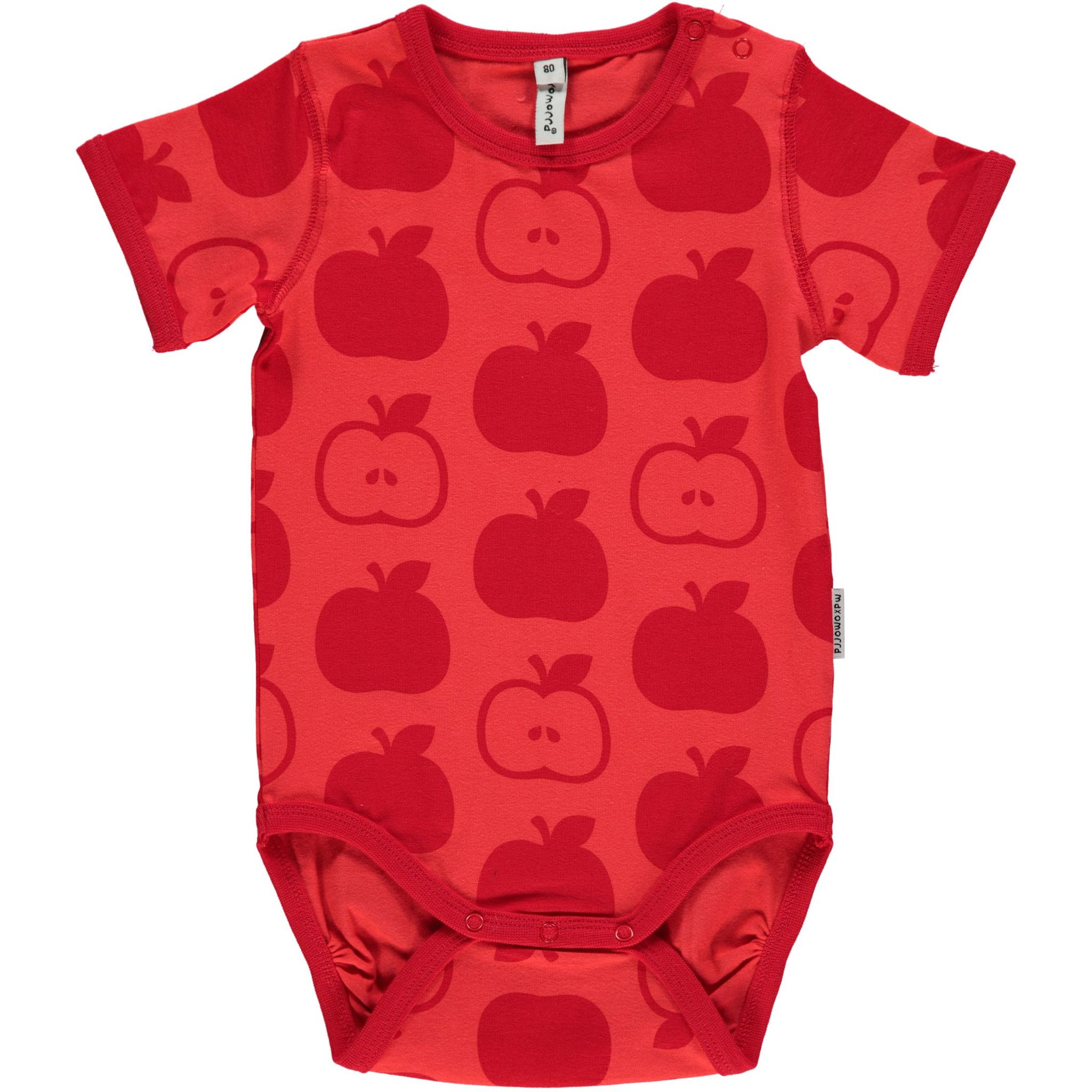 Red Apples Short Sleeve esie Monochromatic Kids Clothes by