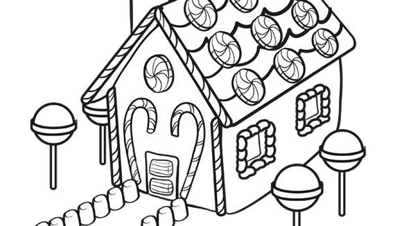 Coloring Pages Gingerbread Man House Free Christmas Coloring