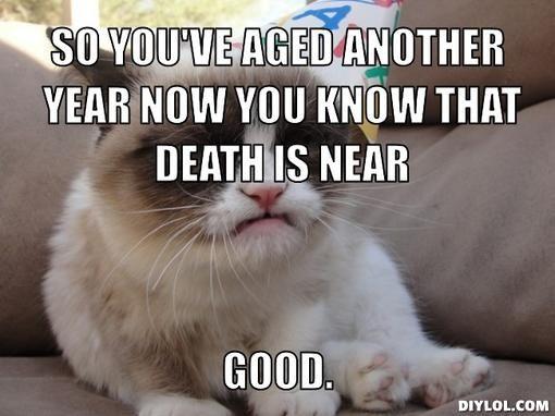 34d35d2b1414867ace876ae5dc31581e memes vault happy birthday meme with the grumpy cat grumpy cat