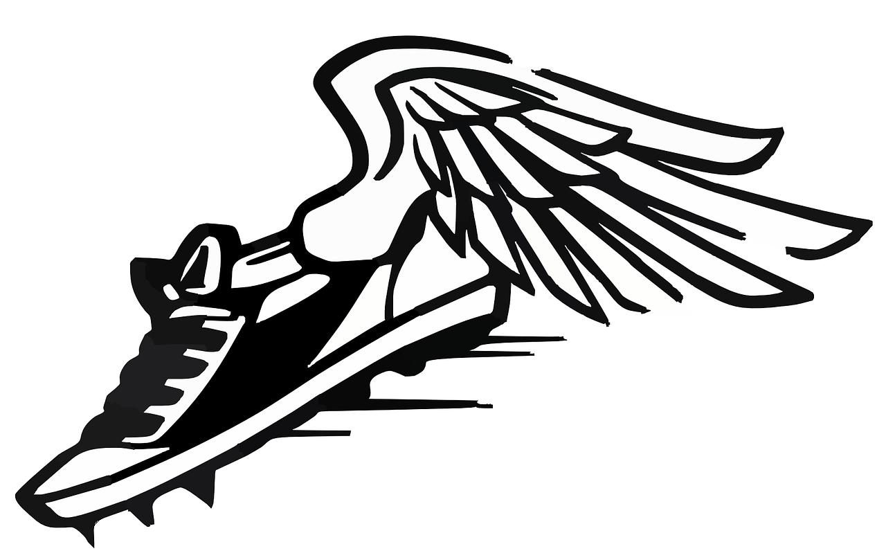 Free Image On Pixabay Running Shoes Speed Wings Running Clipart Wing Shoes Shoes Clipart