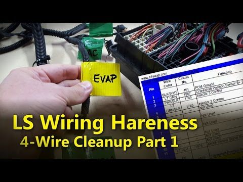 lsx swap harness how to simple & free diy standalone on the test stand -  youtube