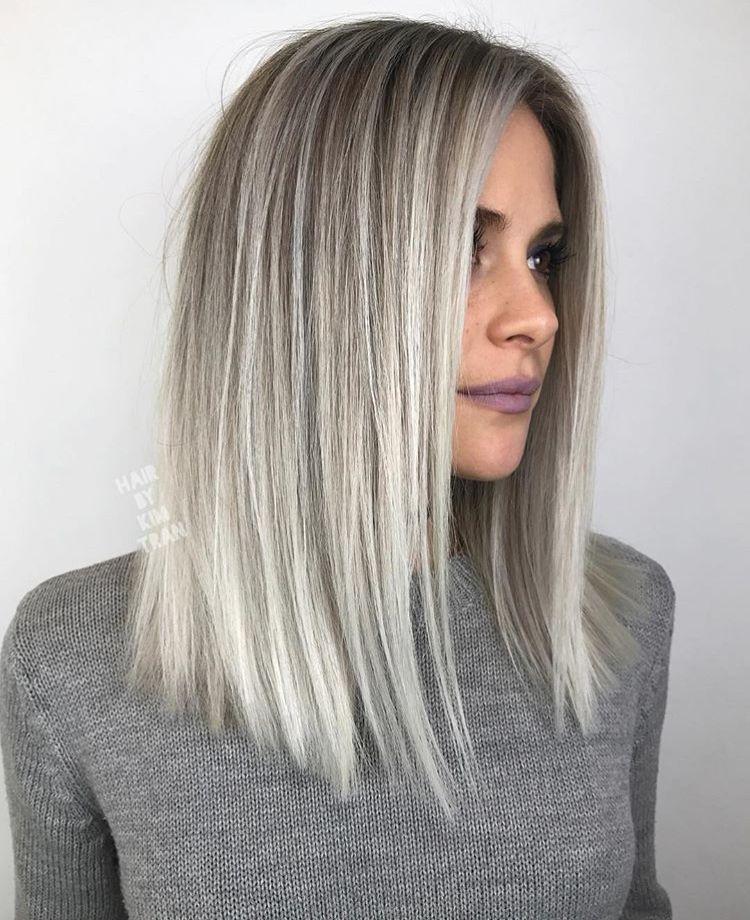 Gray silver light blond hair