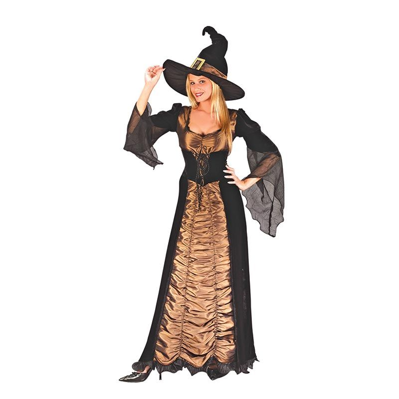 Halloween Womens Adult Wicked Coffin Witch Costume L15528 ...