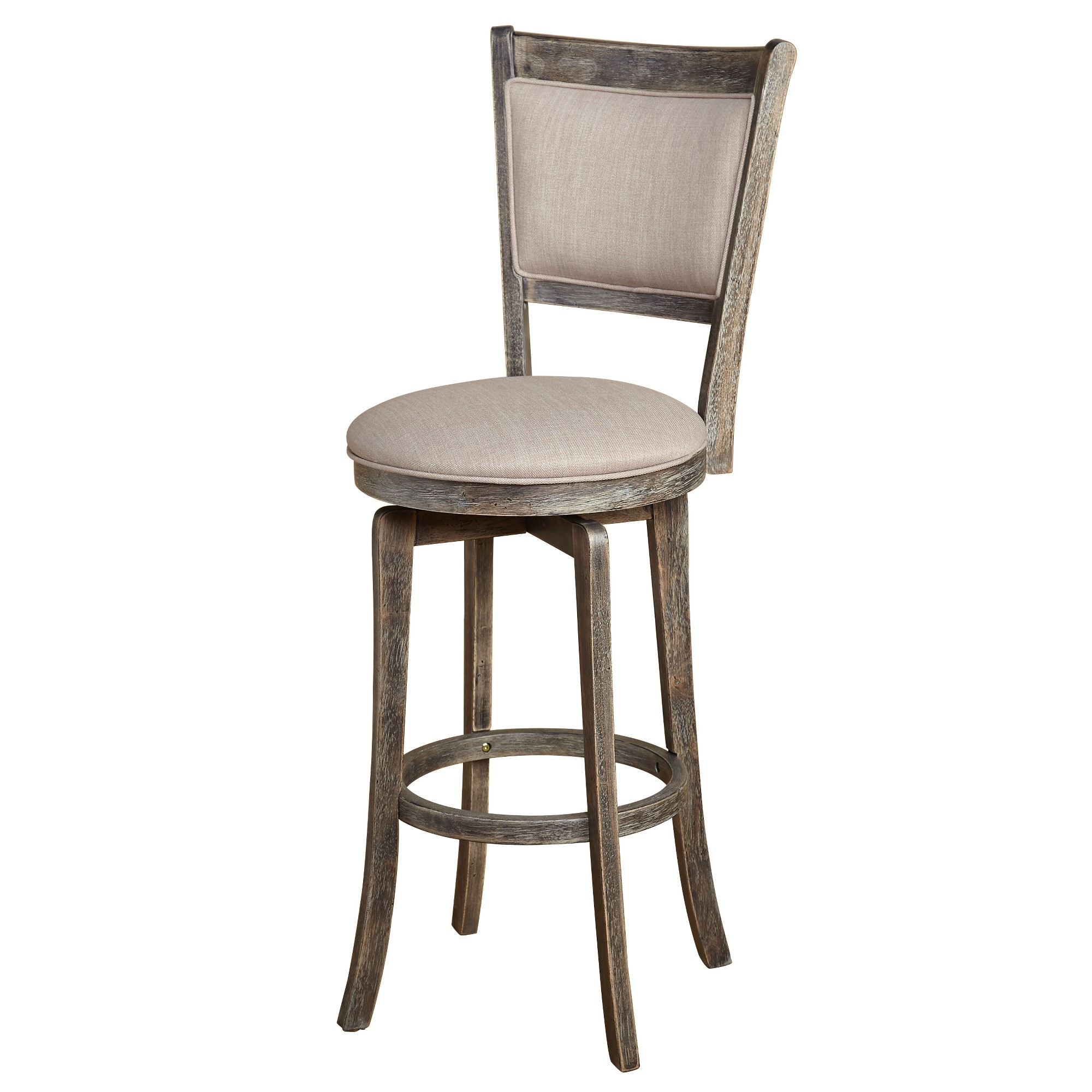 """30"""" French Country Swivel Stool Weathered Gray"""