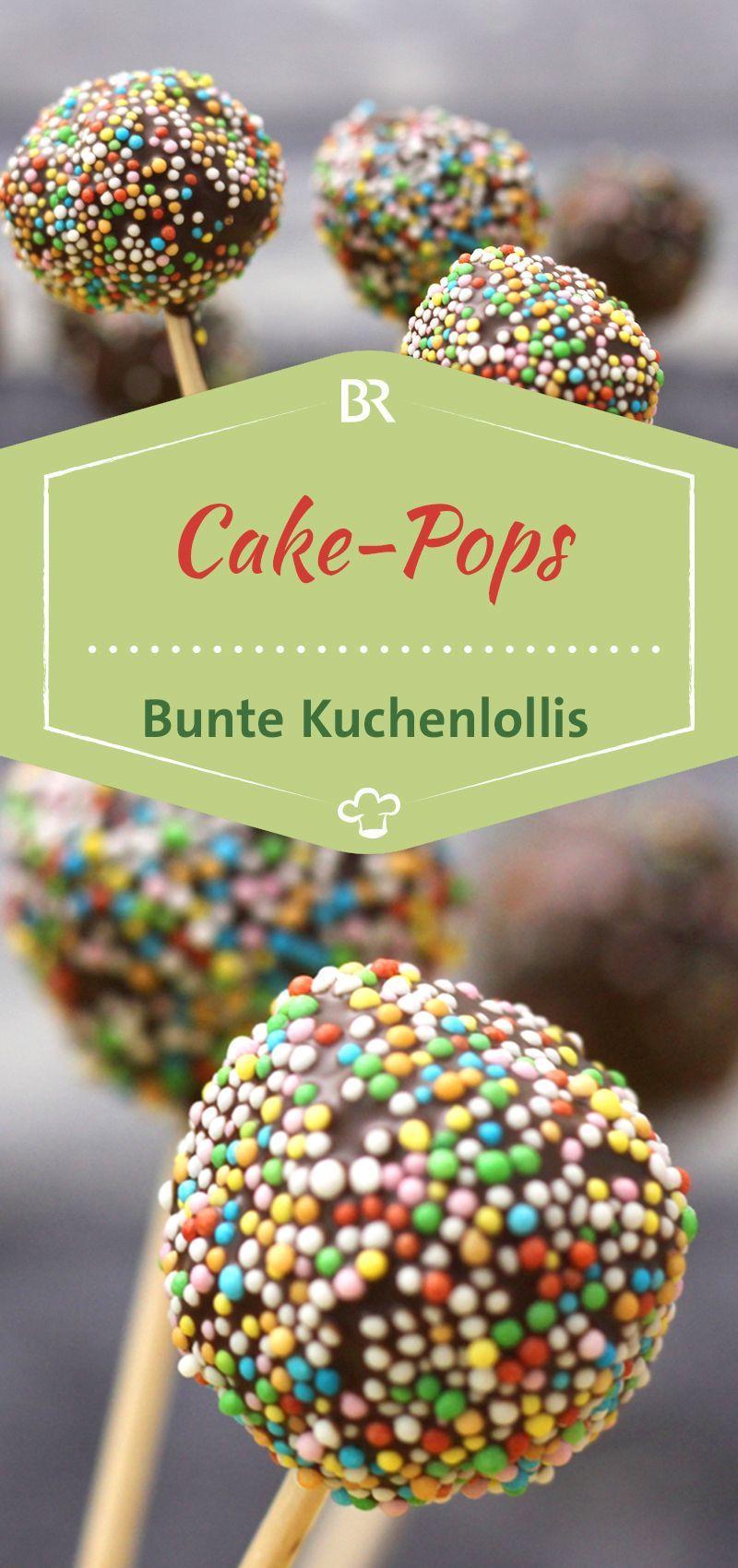 Cake Pops Rezept: Bunte Kuchenlollis selber machen | BR.de