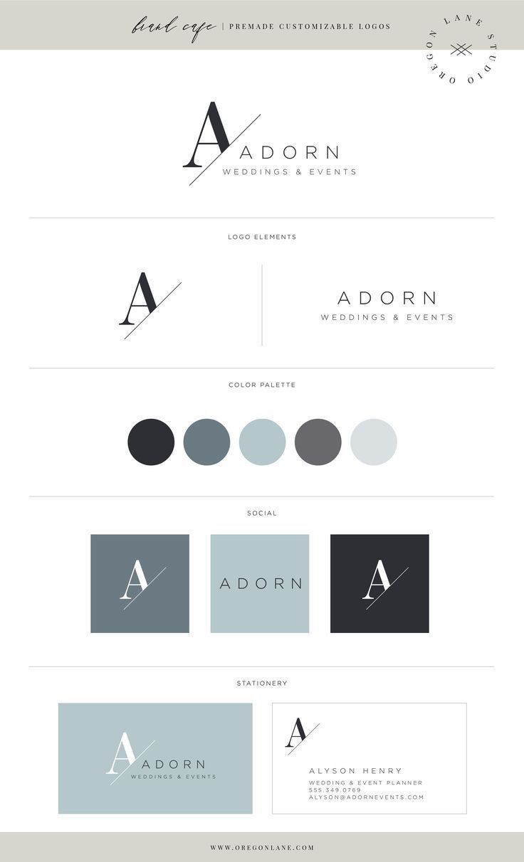 Kit de marquage pour Oregon Lane Studio – Brand Cafe. www.oregonlane.com - Typographie