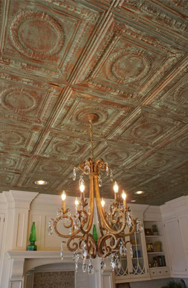 Painted Tin Ceiling Tiles Decor Ideas Loft