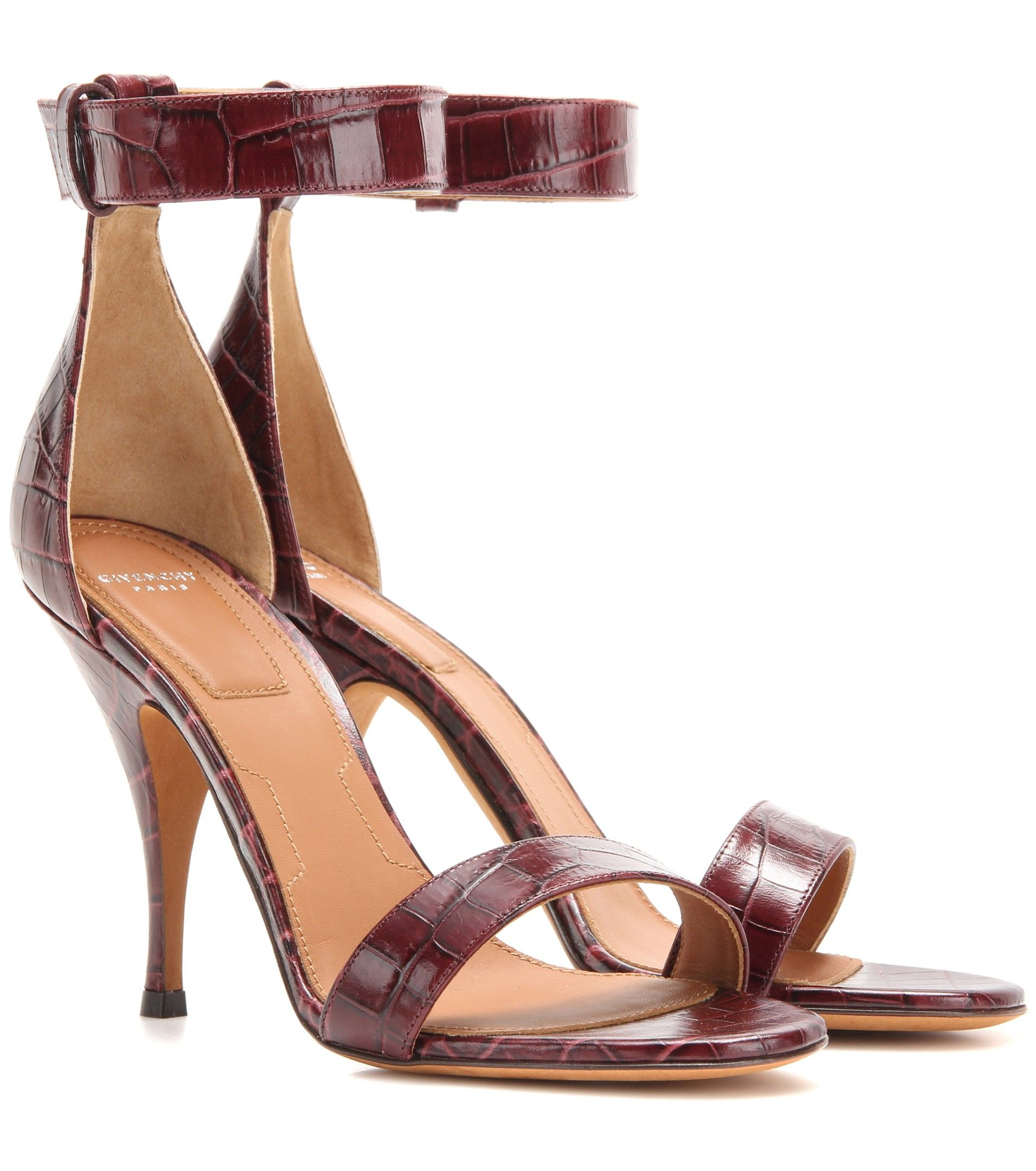 Givenchy Embossed Leather Sandals sale get to buy clearance supply outlet new arrival ZKJlI