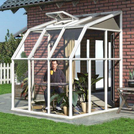 Palram Sun Room 2 Clear Kit - 6' x 6' - White - Walk-In - Walmart.com #relaxingsummerporches
