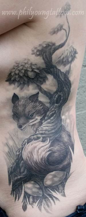 Phil Young fox tatt