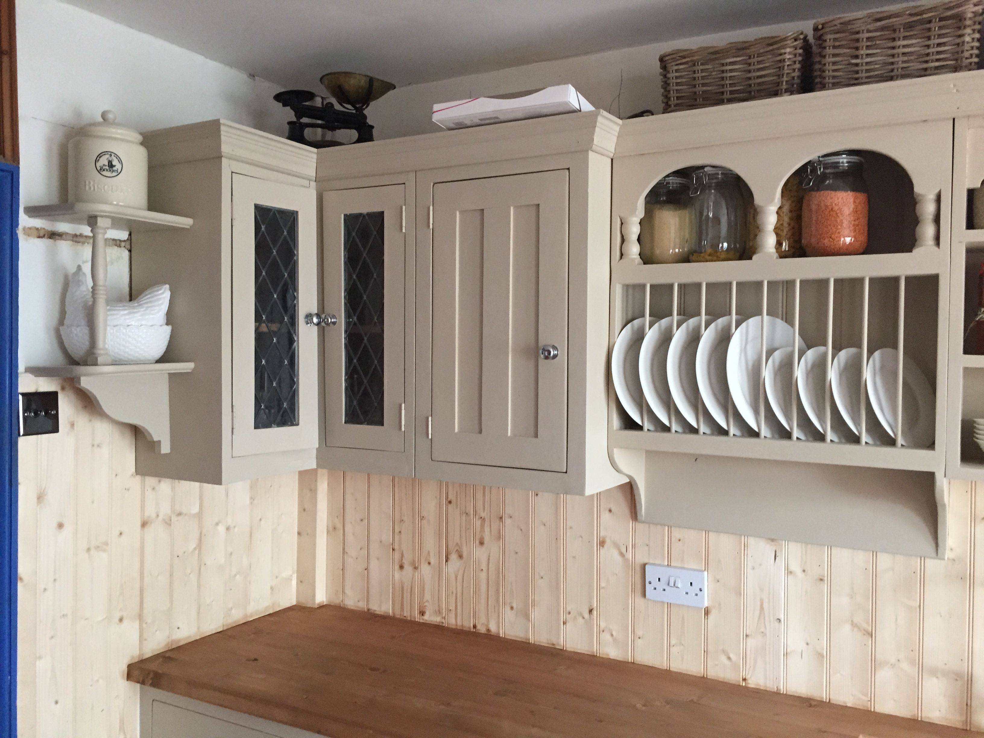 Best Custom Made Reclaimed Pine Kitchen Units Painted In 400 x 300