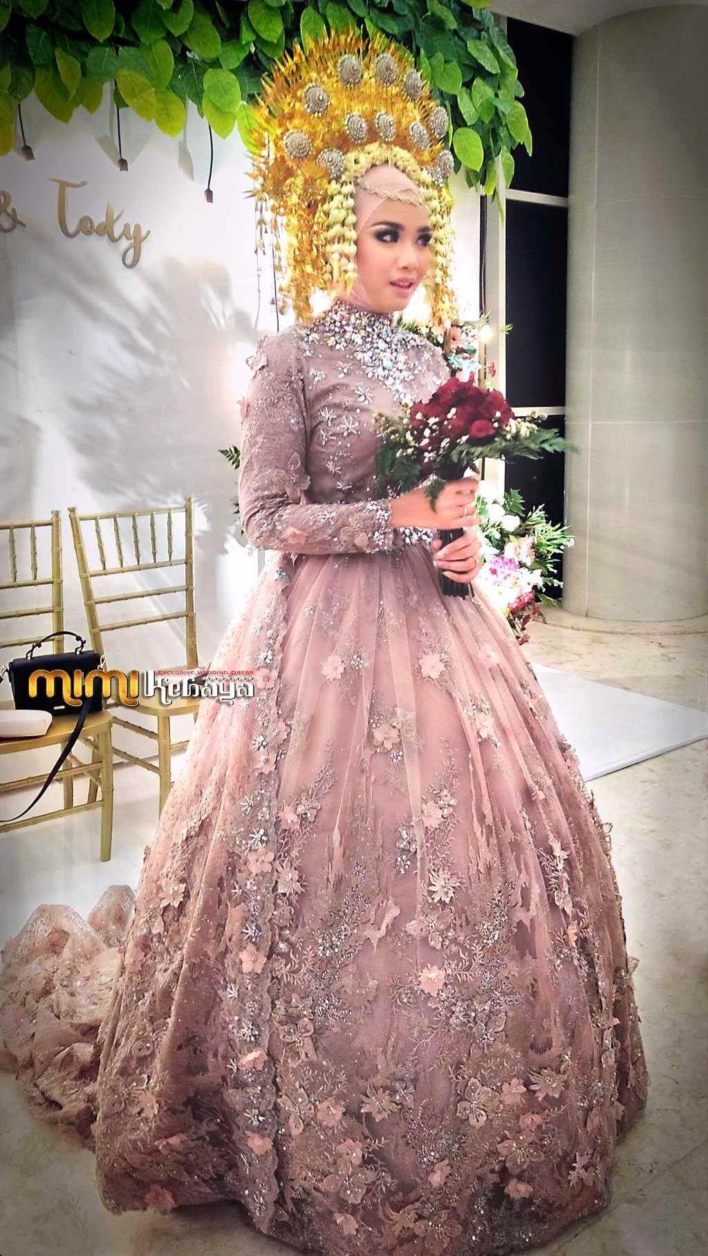 Peach Wedding Dress Gaun Gaun Perkawinan Gaun Pengantin