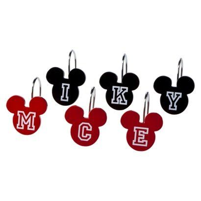 Disney S Mickey Mouse Shower Curtain Hooks With Images Mickey Mouse Shower Curtain Mickey Mouse Bathroom Mickey Bathroom