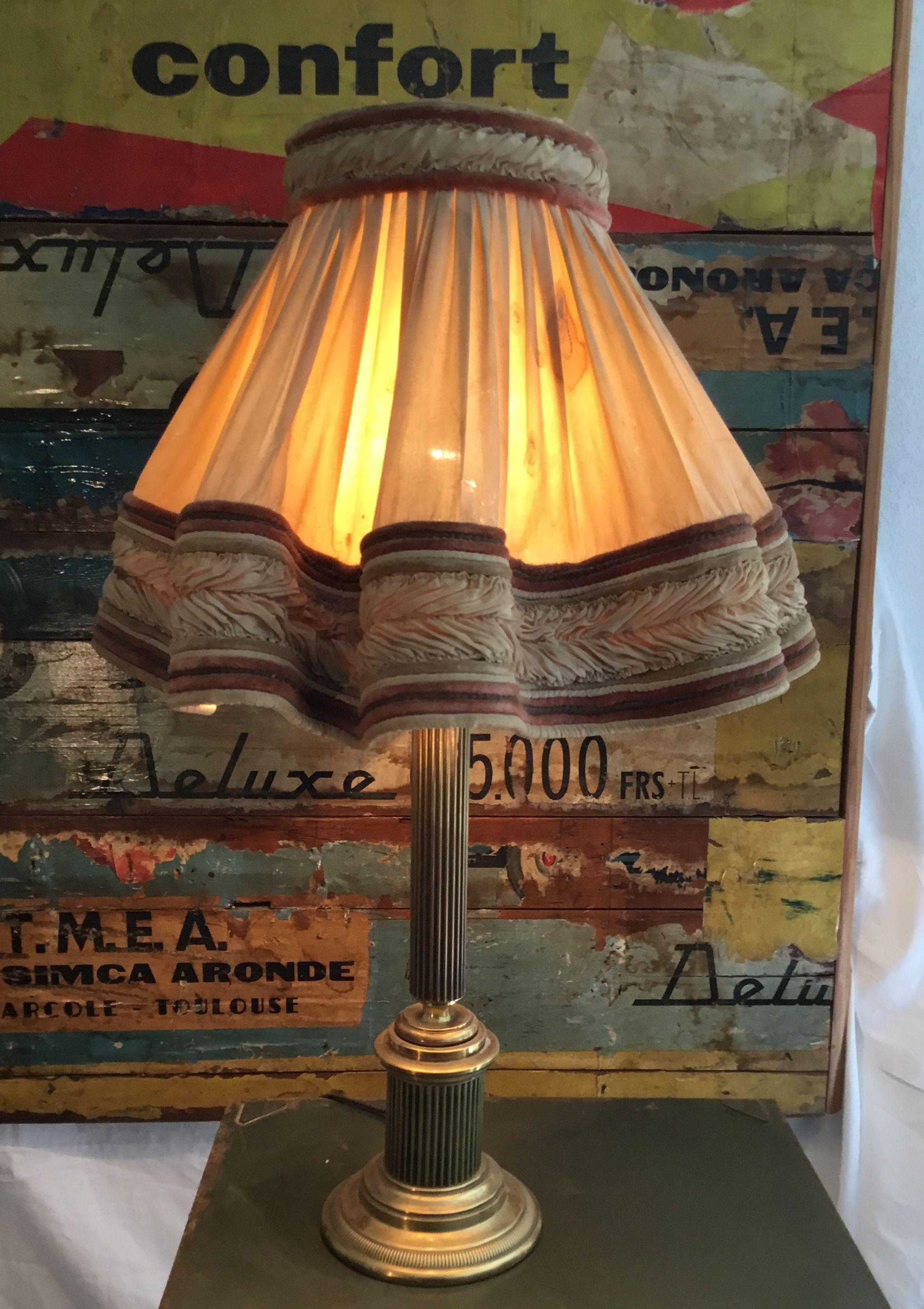 Vintage Lampe De Table De Bureau Style Empire Deco Objets