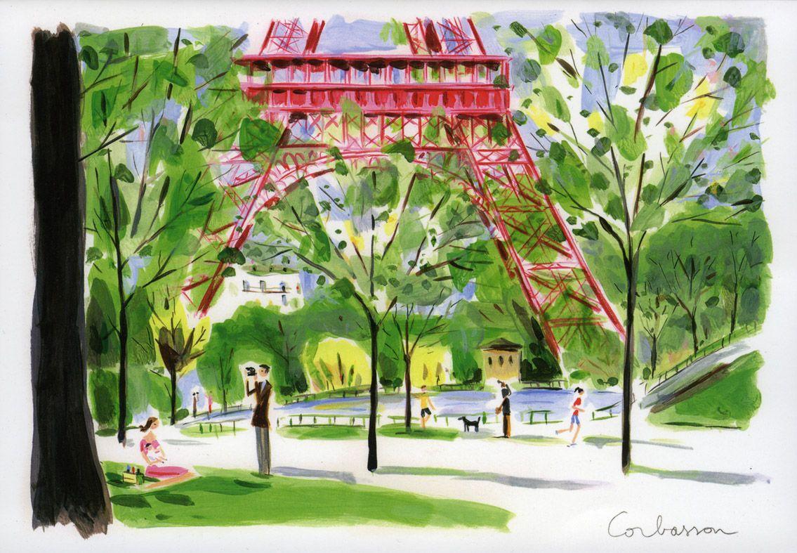 Dominique Corbasson Illustration De Paysage Peinture Paris Et