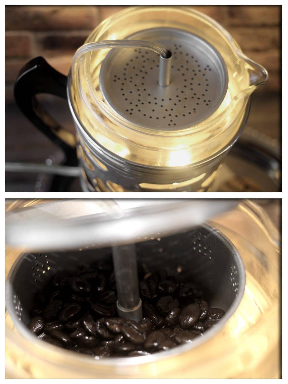Re Purposed Froman Coffee Pyrex Percolator Table Lamp Id Lights Percolator Coffee Percolator Coffee Pot Vintage Lamps