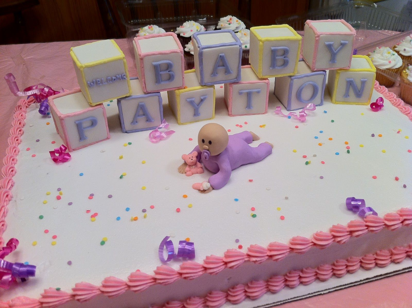 Simple homemade baby shower cakes for girls recipes this cake was for my cousins baby shower - Easy baby shower cakes for girls ...