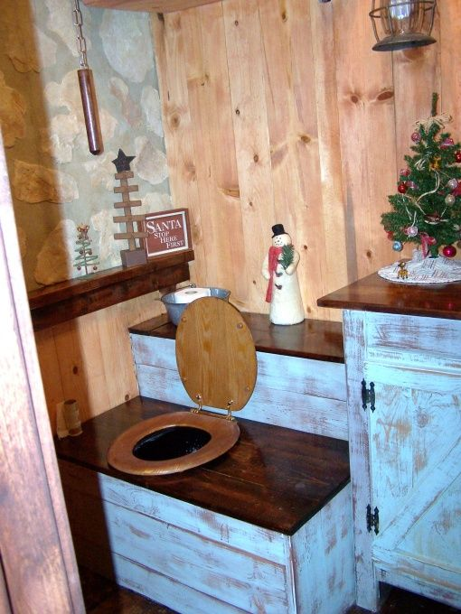 i am doing this for the barn bathroom. build an outhouse box over