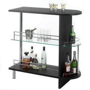 table haute de bar mdf noir am nagement pinterest bar