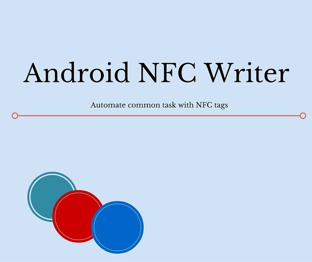 How to develop an Android app to write NFC Tag Text, URL