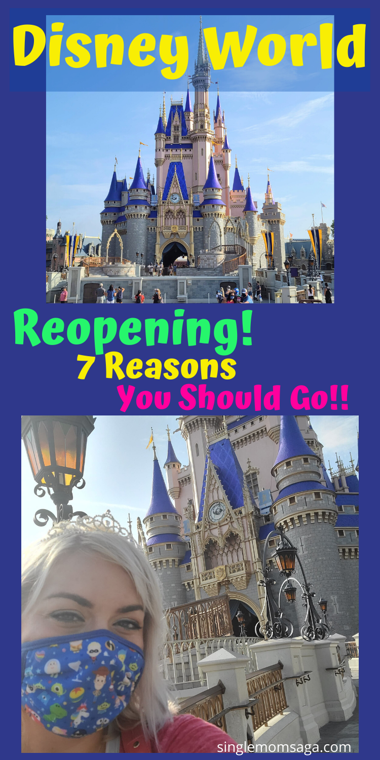 Disney World is finally opening again! Here are all of the details on how they are keeping everyone safe and healthy while making magic!! #disney #disneyworld #magickingdom #disneylife #castmember #disneyblog