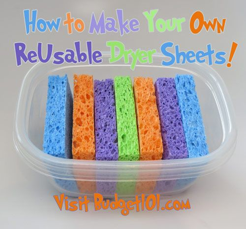 Dryer Sheets (I want to try this with a natural solution with essential oils)