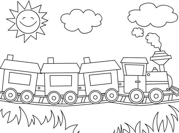 Gambar Mewarnai Transportasi Merwarnai Train Coloring Pages