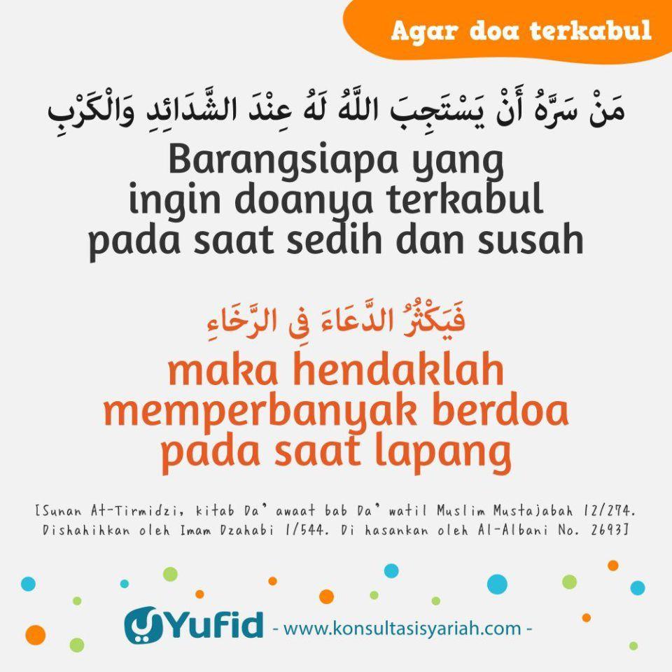 Agar Doa Dikabulkan Tidak Tergesa Gesa Yufid Kutipan Bijak