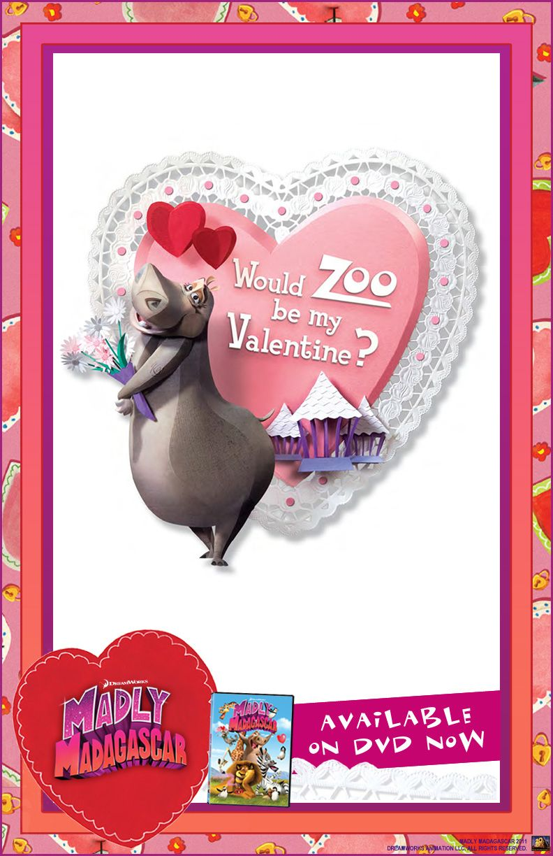 Madly Madagascar Valentines Day E Card Movies Dvds And Blu Rays