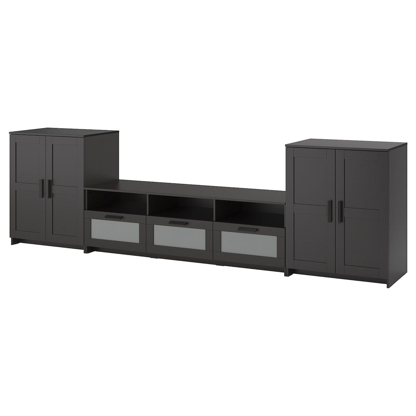 BRIMNES TV storage combination – black – IKEA