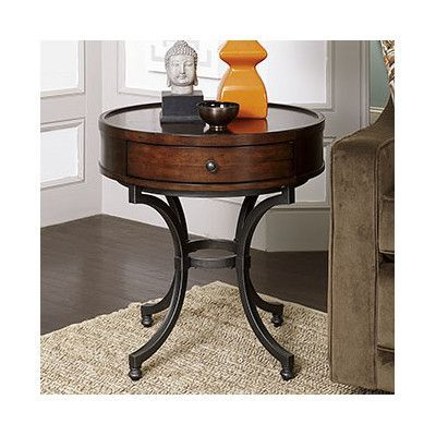 Darby Home Co Mcpherson End Table Living Room Decor Rustic Wood Living Room Decor Round Living Room Table