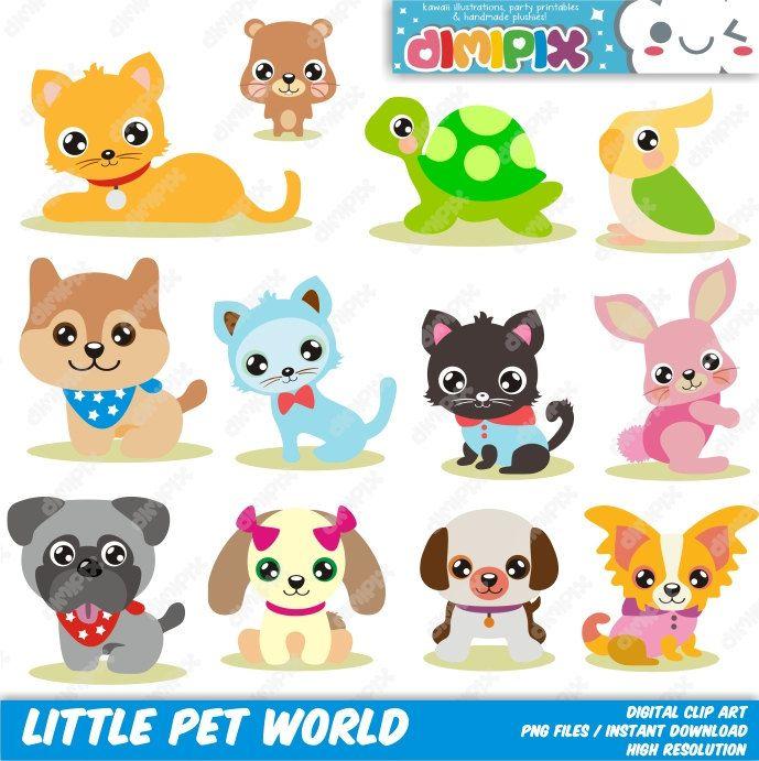 Little Pet World Pet Shop Pet Store Clip Art Set Kit Digital Clip Art Set Clip Art Pet Shop