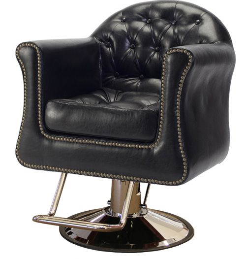 Sovereign Styling Chair in Vintage Black by Minerva