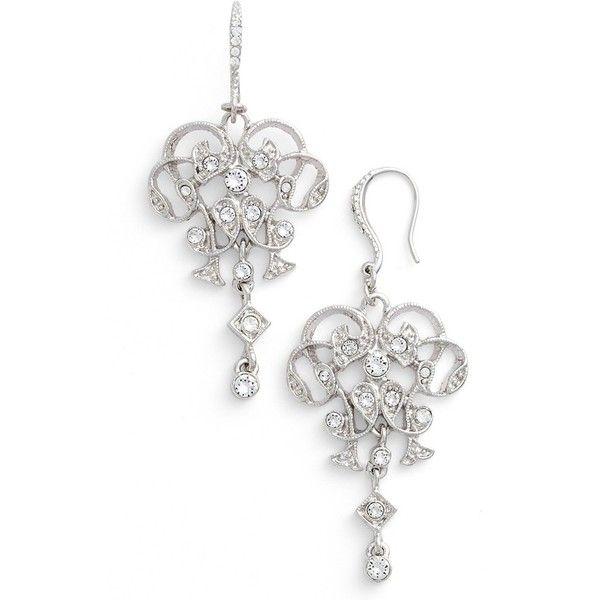 Women\'s Nina Swarovski Crystal Chandelier Earrings (€44) ❤ liked ...
