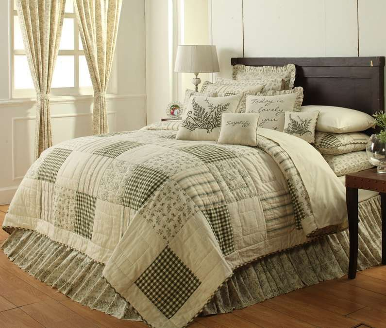 Country and Primitive Bedding Quilts  Meadowsedge Bedding by Victorian Heart  Country Decor