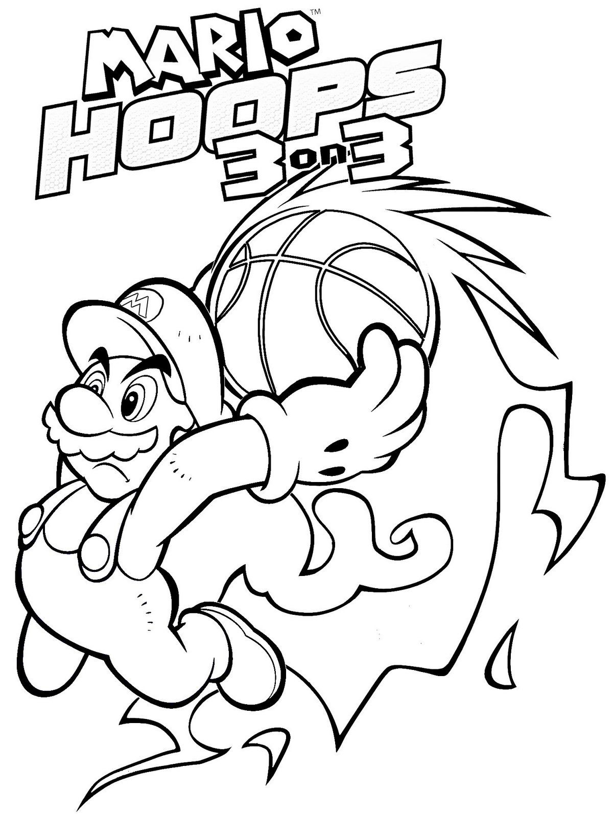 Mario Sports Coloring Pages Portraits