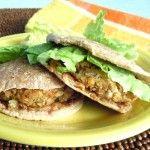 Baked Falafel Sandwich Recipe - Mini Patties - Vegan in the Freezer