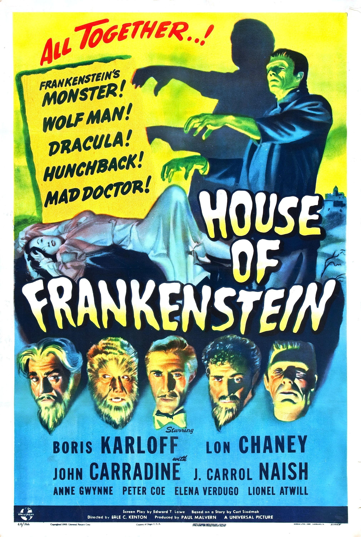House Of Frankenstein Erle C Kenton 1944 Vintage Movie Posters