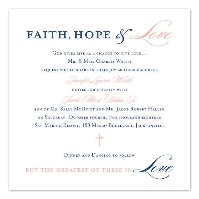 Christian Wording For Wedding Invitations: Graceful Type In 2019