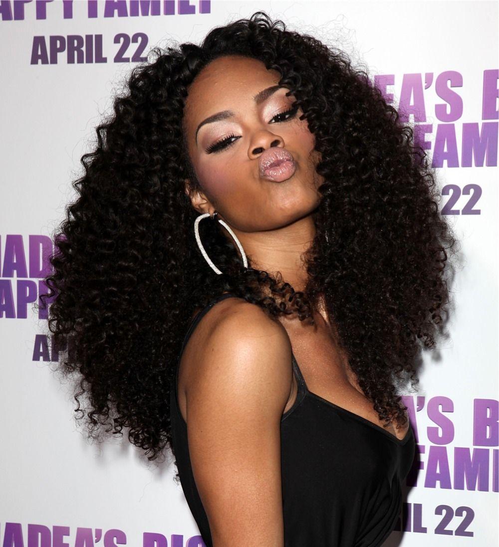 Teyanna taylor she has the best curly hair black beauty