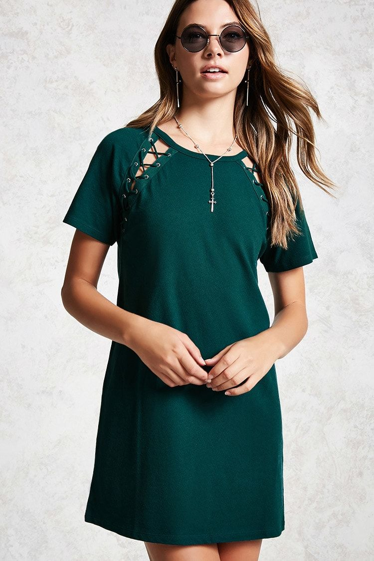 Laceup tshirt dress forever pinterest st
